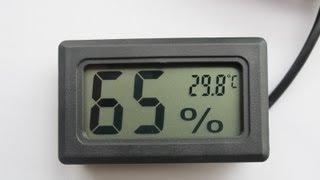 Посылка из Китая №3 гигрометр(это третья посылка из Китая в ней гигрометр, 1 штука. Цена 203 рубля. Доставка БЕСПЛАТНО ! для инкубатора или..., 2013-03-03T16:48:36.000Z)