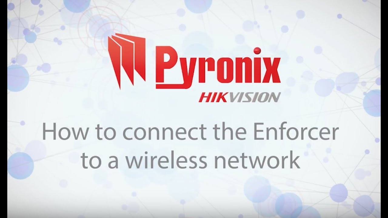 How To Connect The Enforcer A Wireless Network Youtube Texecom Pir Wiring Diagram