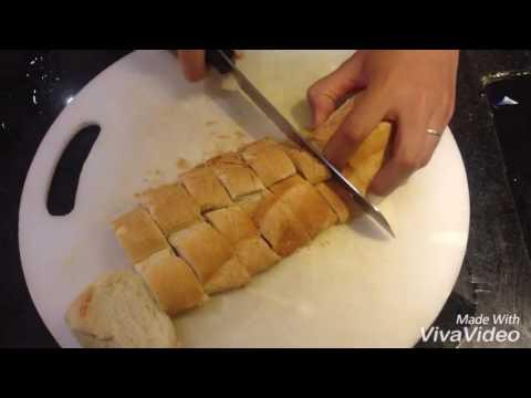 Bánh mỳ bơ tỏi (không dùng lò nướng)