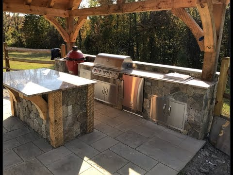 How to Build an Outdoor  BBQ Dream Station /stainless door install