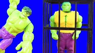 Hulk Family Rescues Hulk Rage Cage Cousin Hulk Smash And Battles Imaginext Joker Bad Guys