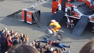 Insane Xtreme Urban Trial Moto Bike Stunts Show - Video Le Mans France 2015