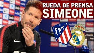Atlético de Madrid - Real Madrid: Rueda de prensa completa de Simeone | Diario AS