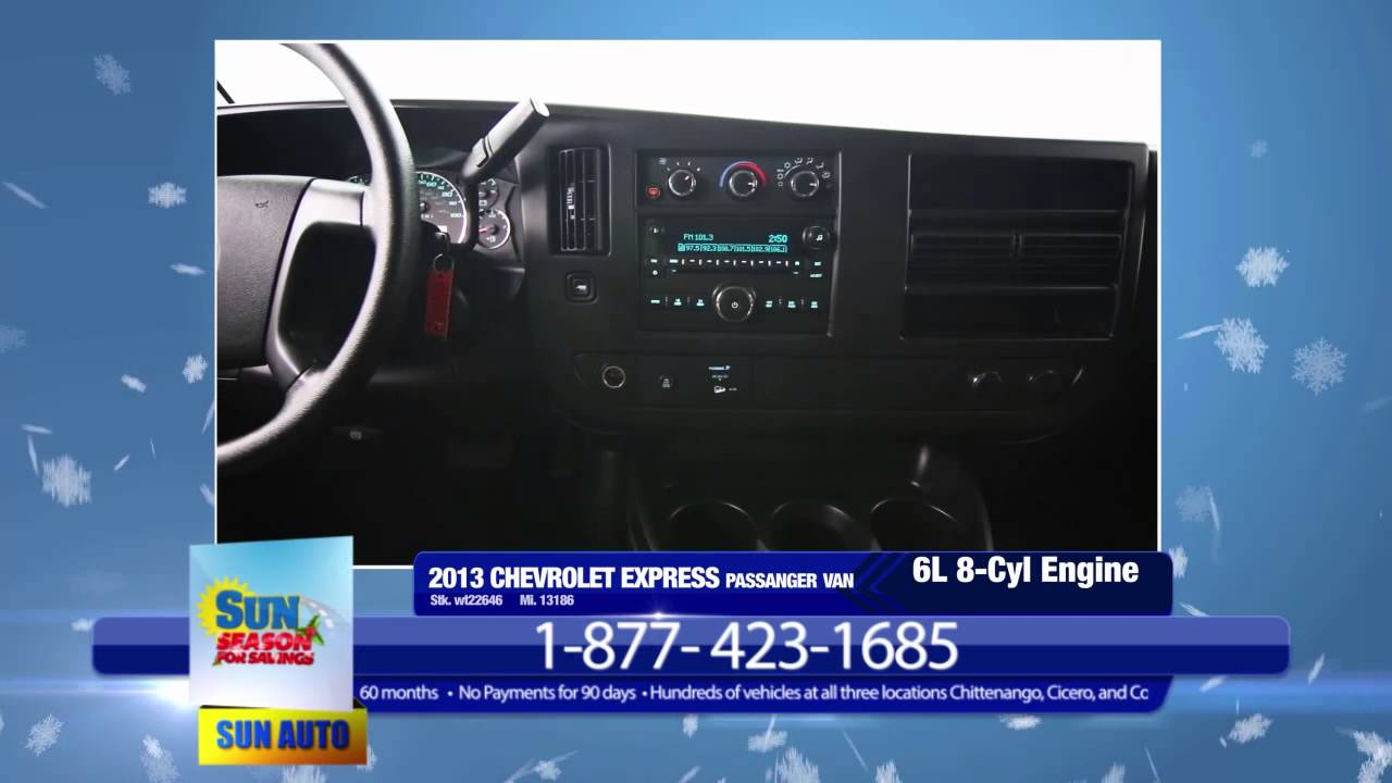 Sun Chevy Chittenango >> Need Room For Many Buy This 13 Chevy Express From Sun Auto And Save