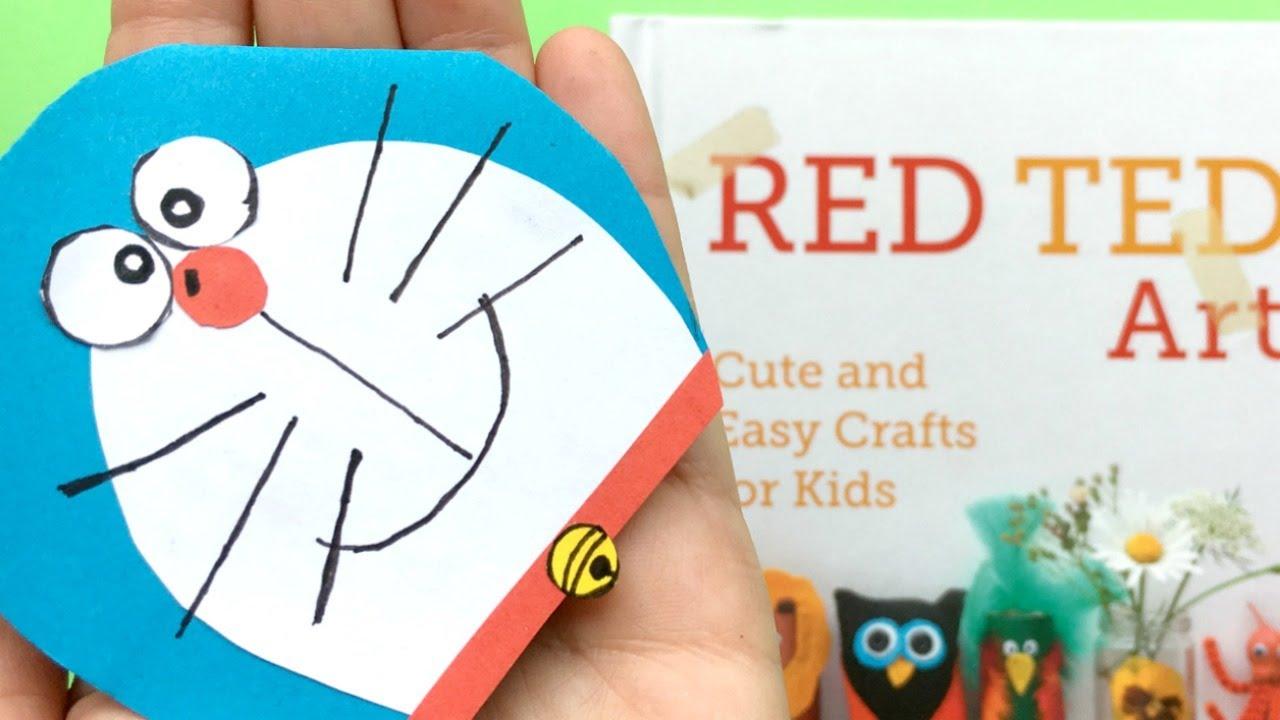 easy doraemon bookmark diy cute corner bookmark diys youtube