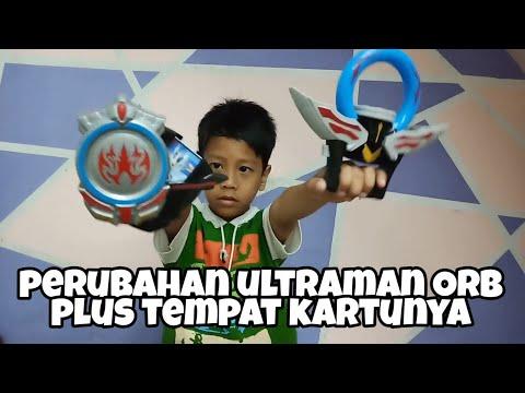 Unboxing perubahan ultraman orb dan tempat kartunya | Mainan ultraman | Alvin Toys
