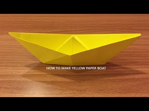 How to Make Paper Boat - Origami Folds (DIY)