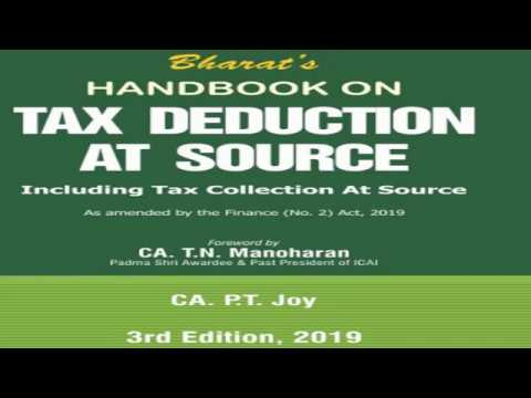Handbook On TAX DEDUCTION AT SOURCE 2019 (Income Tax)  Book