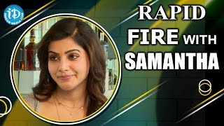 Rapid fire - 50 things to know about samantha || #aaamovie || talking movies with idream