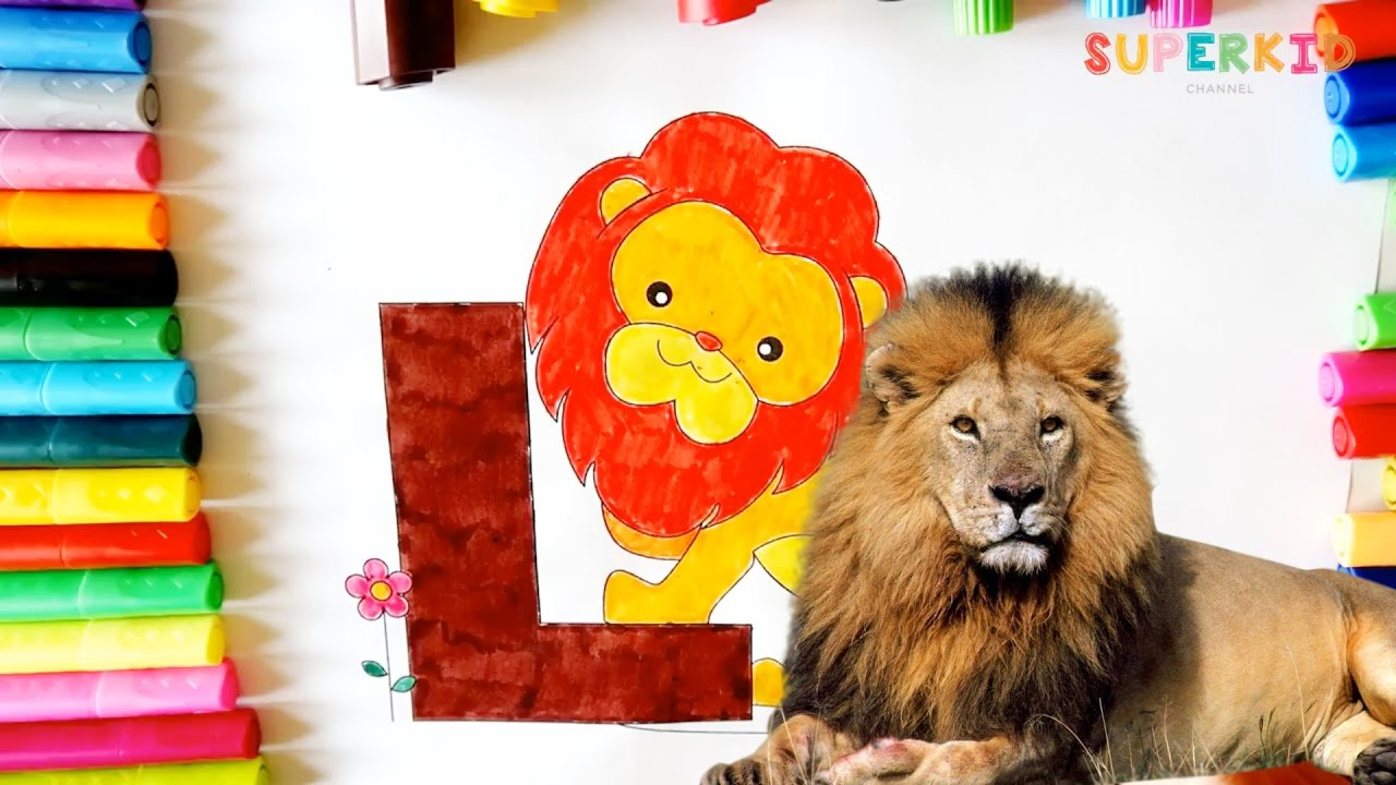 Colouring Pages For Toddlers Alphabet : Letter l for lion coloring pages for preschoolers learning