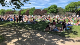 Mass Gathering In Toronto's Trinity Bellwoods Park Sparks Outrage