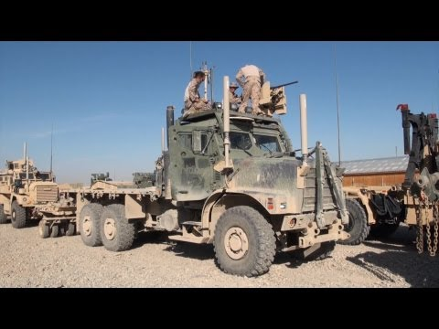 U.S. Marines Preparing for Convoy to Afghanistan