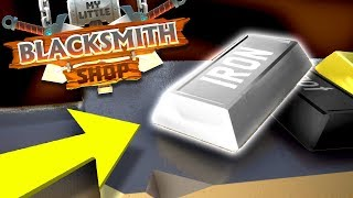 WE CAN SELL IRON WEAPONS - Unlocking Iron Bronze  Tin Items - My Little Blacksmith Shop Gameplay