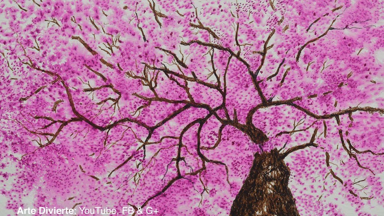 Dibujo De Flor De Cerezo Para Colorear: Cómo Dibujar Un Cerezo Con Pluma Fuente