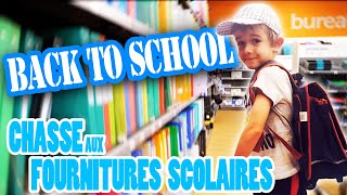 BACK TO SCHOOL : CHASSE AUX FOURNITURES SCOLAIRES POUR LE CP D'HUGO - VLOG ANGIE MAMAN 2.0