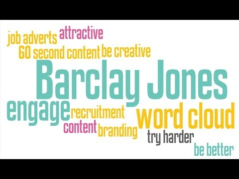 Creating a word cloud in 60 seconds (great for recruiters)