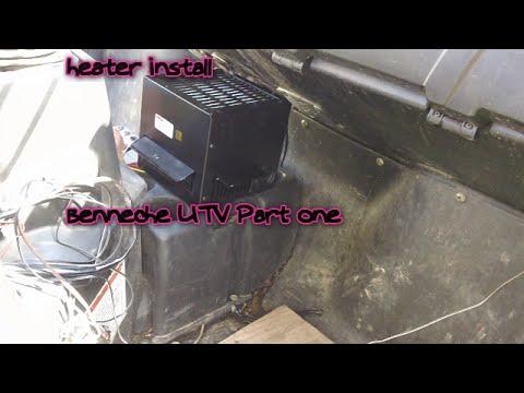 Heater Install Bennche 700 Utv 2013 Part One Youtube