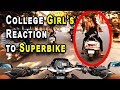 College Girls Reactions To SUPERBIKE | Big Announcement | All India Ride 2018 | Benelli 600i