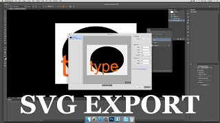 How to export file as SVG vector files in Photoshop CC 2015 tutorial