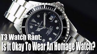 Is It Okay To Wear An Homage Watch?