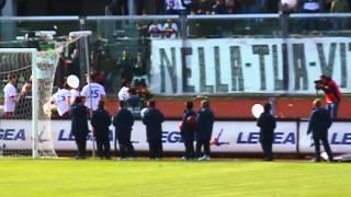 Minuto di silenzio per Morosini - Livorno Vs. Cittadella