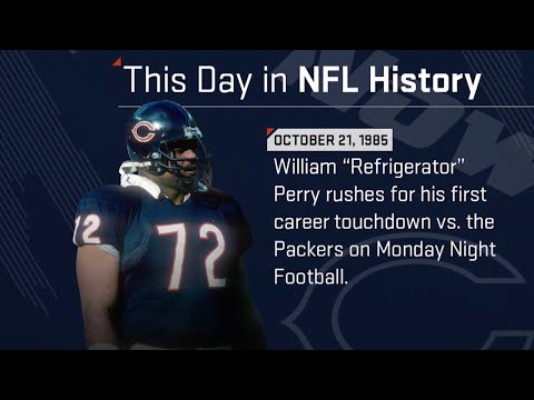 William 'Refrigerator' Perry Scores His 1st TD | This Day In NFL History (10/21/85)