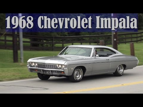 1968 Chevy Impala Sport Coupe Retro Road Test In 4k
