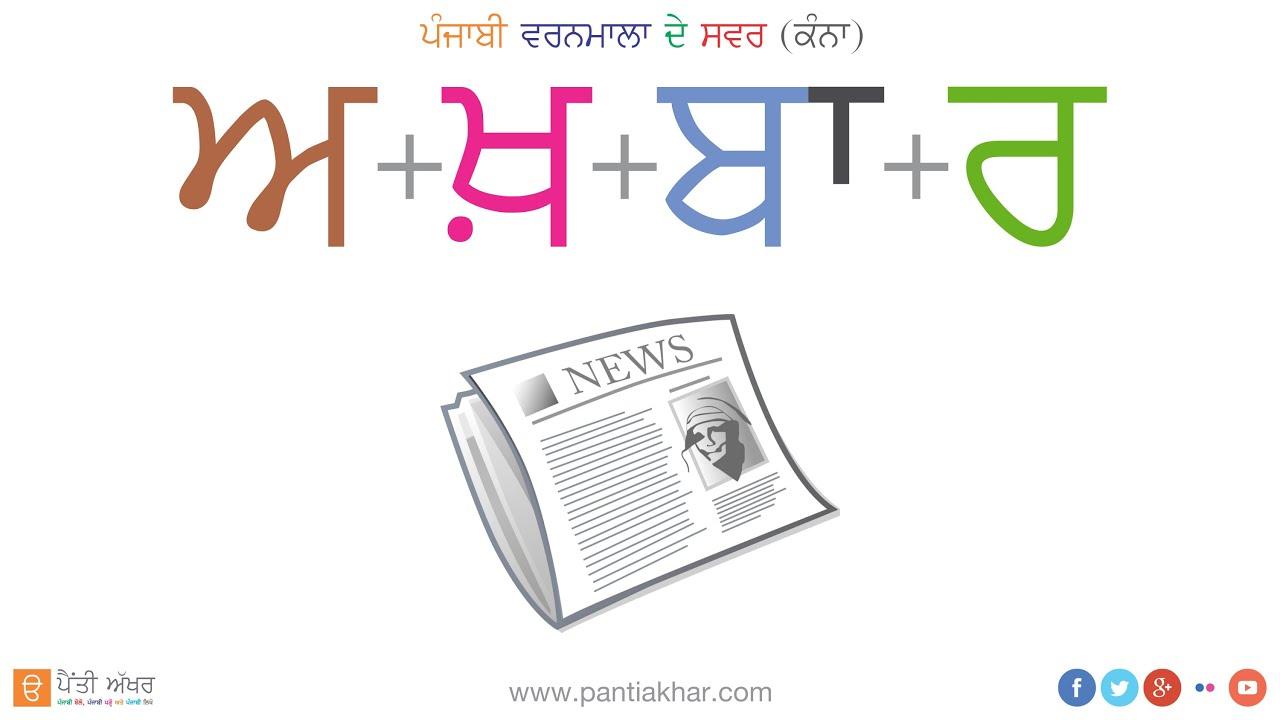 Punjabi Alphabet Vowels