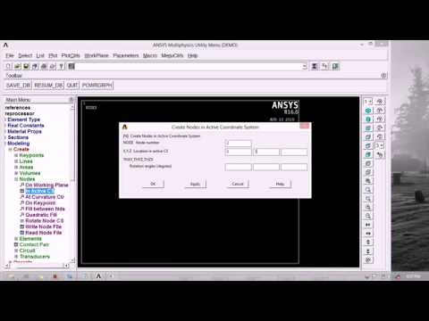 modal analysis of spring mass system in ANSYS