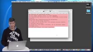 Rechtschreibprüfung am Mac
