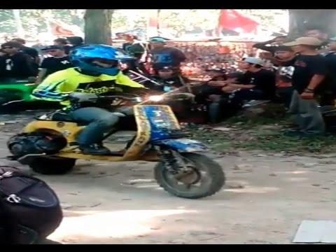 Vespa Scooter Vespa Adventure Indonesia Trail Purwakarta Youtube