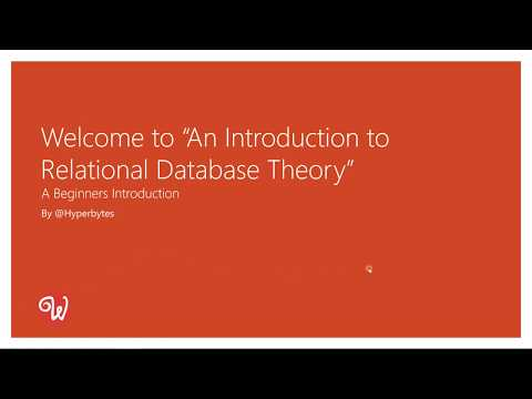 An introduction to relational database theory part1