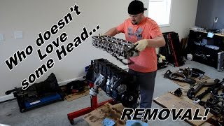Supra Rebuild Series 7  Head Studs, Head Removal, Valve Train Removal & Crank Fun