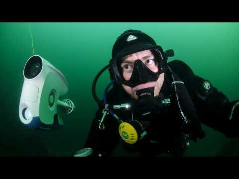 Face to face with an underwater drone - Blueye Pioneer
