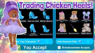 Only Trading CHICKEN HEELS! LEGACY HEELS! Royale High Trading
