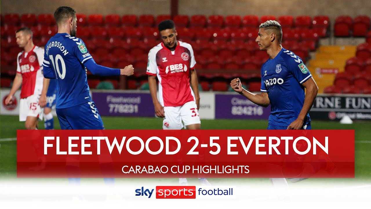 Everton hit five to spare Jordan Pickford's blushes | Fleetwood 2-5 Everton | Carabao Cup Highlights