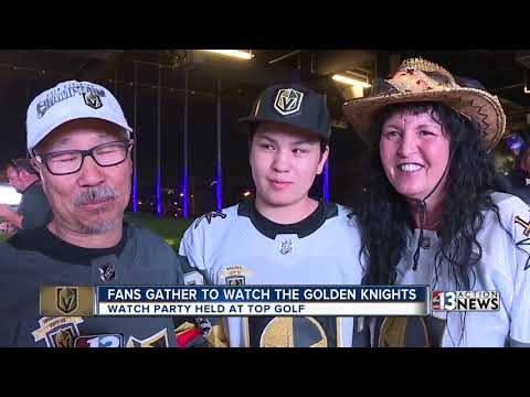 Fans cheer on Knights as team takes 3-0 series lead over LA Kings