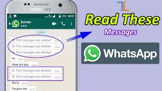How to Read Whatsapp Deleted Messages Again | Recall Whatsapp Deleted Messages | Get Deleted msg
