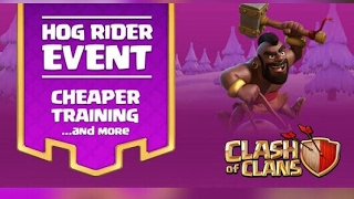 CLASH OF CLANS: HOG RIDER EVENT and using hogs army