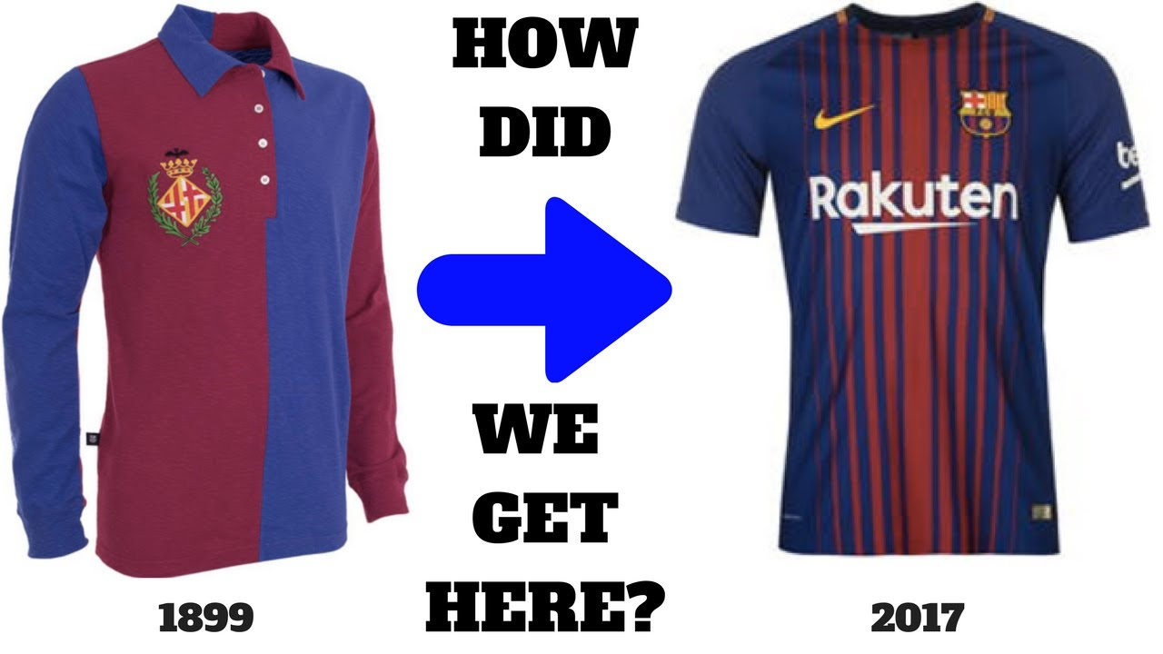 86ce377d399 The Curious History of the FC Barcelona Jersey - YouTube