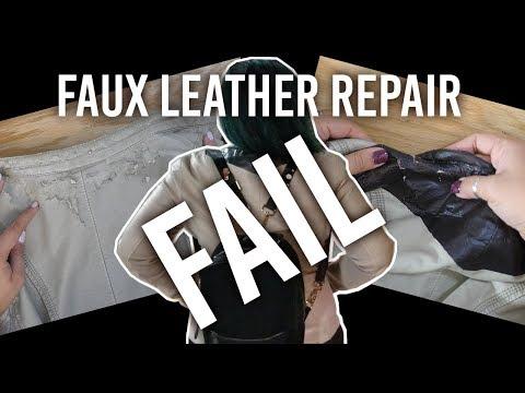 Faux Leather Jacket Repair FAIL