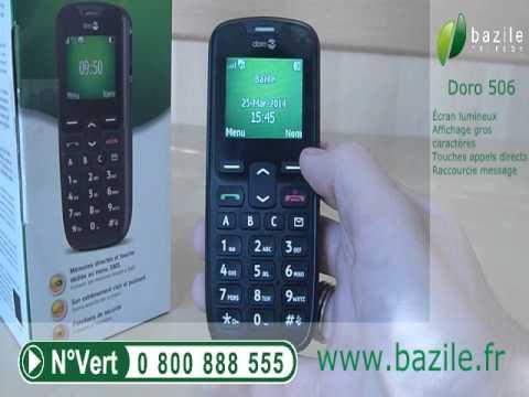 Doro 506GSM présenté par Bazile Telecom