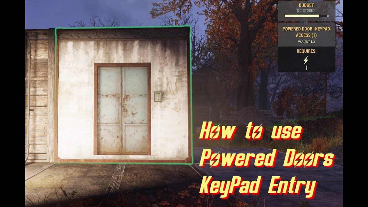 Fallout 76 Powered Door Keypad Access