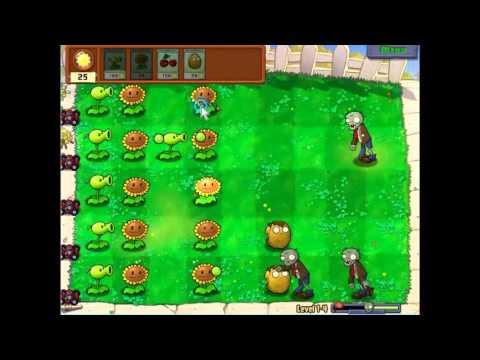 Plants Vs Zombies Level 1-4