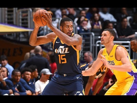 Derrick Favors Full Highlights at Lakers 2017.10.10 | 10 Pts, 5 Rebounds, 3 Assists, 2 Steals