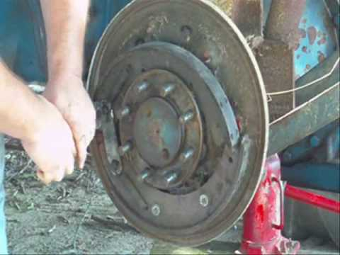 Replacing brake shoes on Ford 3000 tractor  YouTube
