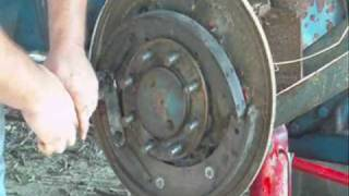 Replacing brake shoes on Ford 3000 tractor