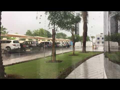 Rain sound and video doha qatar امطار الدوحة ثلاثة ساعات من الامطار وصوت الرعد