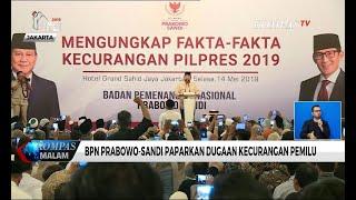 Paparkan Dugaan Kecurangan, Prabowo-Sandi Tolak Perhitungan Suara