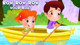 แถวแถวแถวเรือของคุณ | บทกวีสำหรับเด็ก | บ๊องในไทย | Nursery Rhymes for Kids | Row Row Row Your Boat